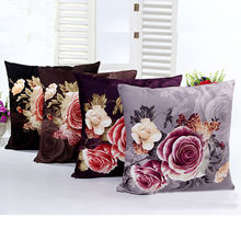 2019 New Fashion Comfortable Multi-pattern Household Printing Dyeing Peony Sofa Bed Home Decor Pillow Case Cushion Cover(China)