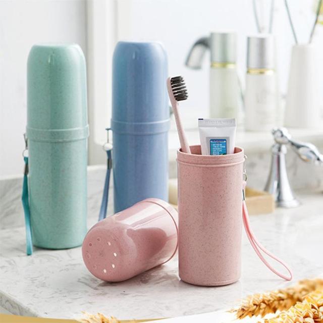 Портативный двойного назначения дорожный держатель для зубной пасты и щетки крышка чехол бытовые контейнеры чашка открытый держатель аксессуары для ванной комнаты