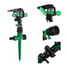 Metal Spike Lawn Grass Hose Adjustable Nozzle Impulse Sprinkler Fitting