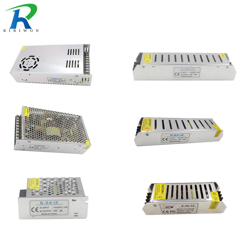цена на RiRi won DC 12V Power Supply 2A 3A 5A 6.5A 10A15A 20A 30A 33A Adapter Driver Charge Transformer Lighting for LED strip Light