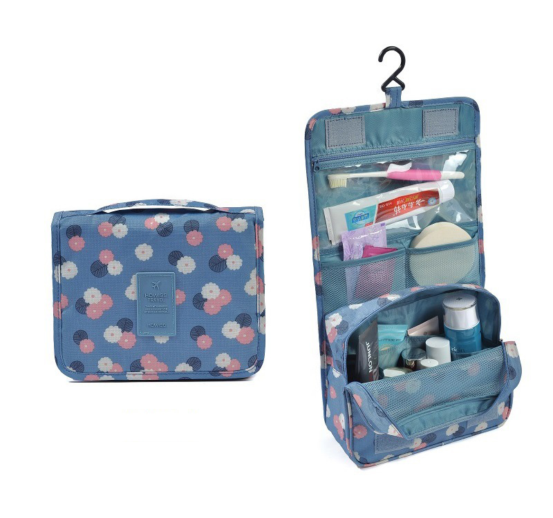 4e6e68ef740581 FADISH Cosmetic Bags Women's Hanging Foldable Casual Wash Makeup Organizer  Storage Roll Travel Toiletry Cases
