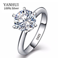 BIG 90% OFF!!! 100% original Solid 925 Silver Rings for Women 2 Carat 8mm Sona CZ Diamond Engagement Wedding Rings Jewelry RB925