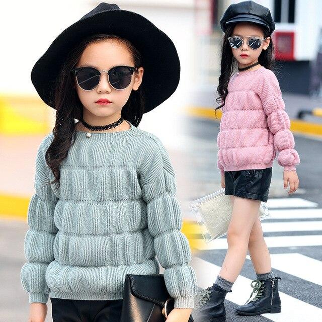 Детская одежда хлопок шерсть свитер цю дон девушки парадной форме одежды детская одежда для 3 до 14 лет