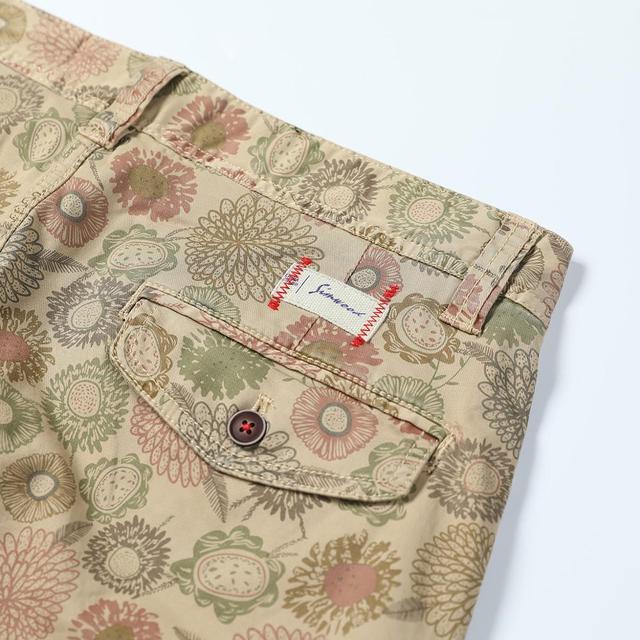 Men's Floral Shorts Cargo Hawaii Printed Loose Vintage