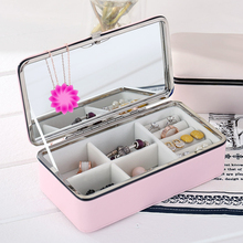 Portable and Simple Jewelry Box Earrings Ring Receiving Box Earrings Necklace European Princess Hand Finishing Box Woman