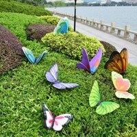 Садовая скульптура эскиз FRP Моделирование Бабочка украшение с животными поделки из резины сад вилла украшение дома