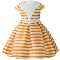 2018 New Girl Dresses Bow Stripes Princess Dress Of Girls Baby Girl Reception Formal Dresses Girl