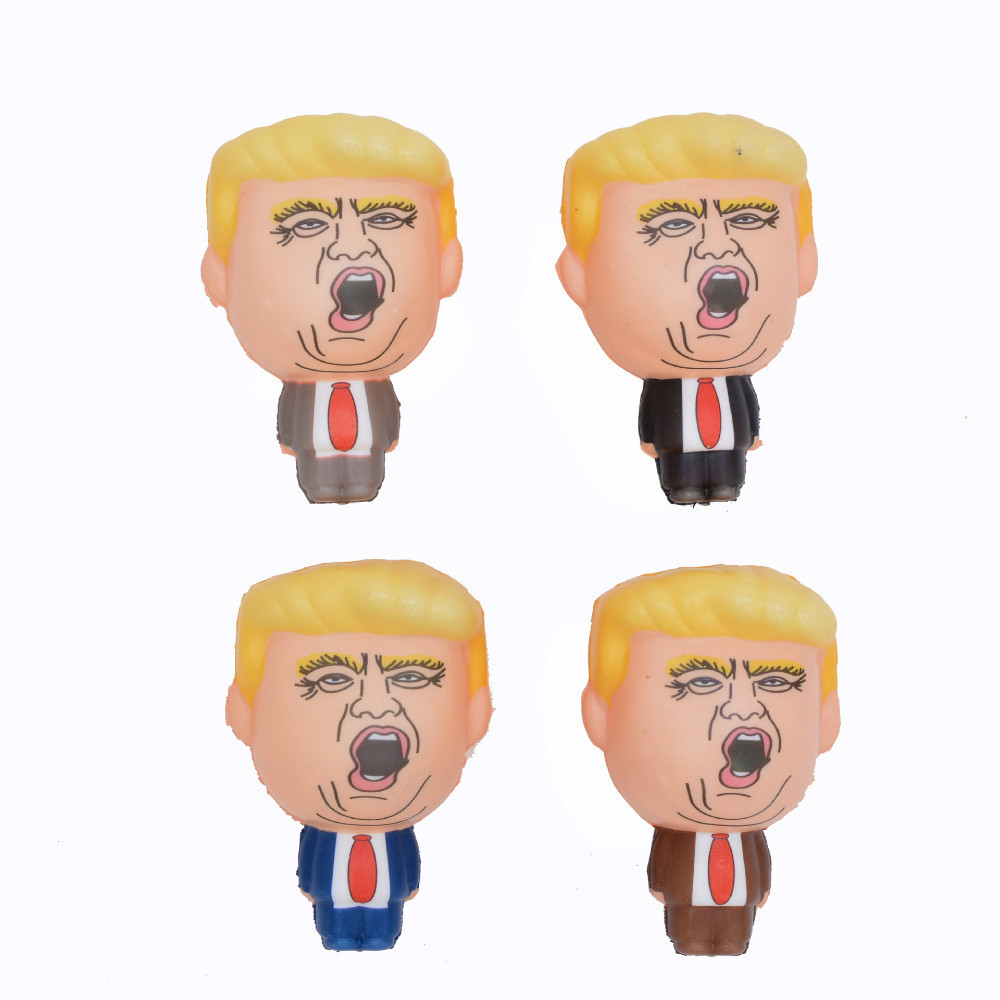 1pc Cute Donald Trump Stress Squeeze Ball Jumbo Squishy Toy Squishies Stress Relief Toys For Children Fun Joke Props Gift #TC