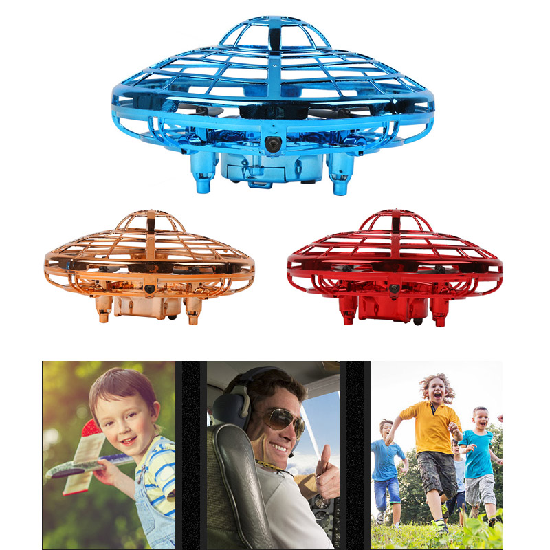 Anti-collision Hand Flying UFO Ball Flying Aircraft RC Toys Led Gift Suspension Mini Induction Drone For Children Boys