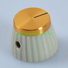 10pcs Marshal Style Guitar Amp Volume Control Knob With Gold Top 1 4 Cream Gray