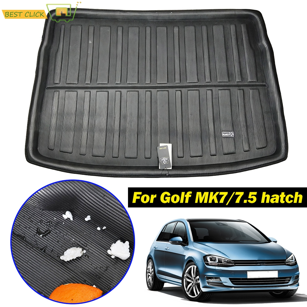 For VW Golf   GTI  R Mk7 Hatchback 2013 2014 2015 2016 2017 2018 Rear Trunk Cargo Mat Tray Boot Liner Floor Carpet Protector Pad