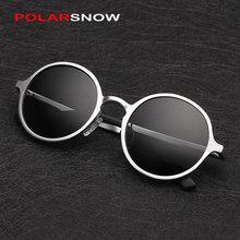 Aluminum Magnesium Sunglasses Polarized Men Round Driving Sun Glasses Oculos Masculino Male Eyewear Accessories 8552