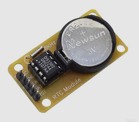 FREE Shipping! ! ! 5pcs DS1302 real-time clock module / CR2032 down travel time