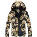 2017 spring new arrival Men's casual fashion flower color jacket Men's high quality windbreaker jackets men Hooded jacket