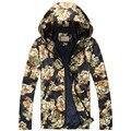 2017 весна новых людей прибытия вскользь цветок цвета куртка мужская высокое качество ветровка куртки мужчины куртка С Капюшоном