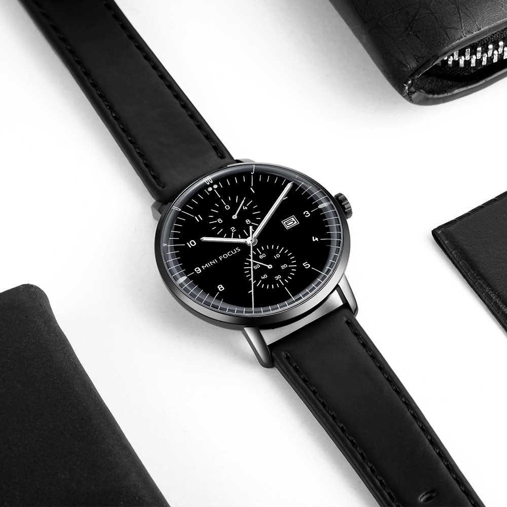 9720600f005b ... MINIFOCUS лучший бренд класса люкс мужские часы большой циферблат из  розового золота модные кварт наручные часы ...