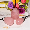 Yoni Eggs Rose Quartz Drilled Jade Eggs For Kegel Exercise Tightening Vaginal Muscle Ben Wa Ball
