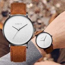 Men Watches Fashion Leather Belet Dress Quartz Watches For M