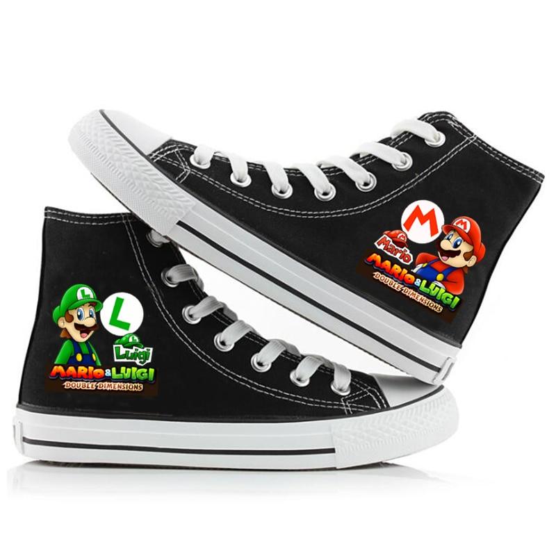 Hot Discount E03f Game Super Mario Women Men Sneakers Canvas