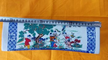 Antique Children play in ancient China figure of porcelain pillow