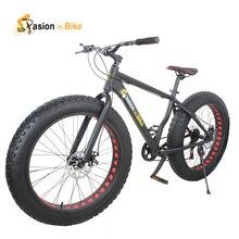 pasion ebike Aluminium frame 26*4.0 7 Speed fat tire bicicleta mountain bicycle fat bike 18inch frame fat bike