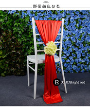 Outdoor wedding chiavari chair decoration sashes quality ice silk chair accessories handmade flower(China)