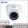 SUNELL E1FV HD1080P Cámara de Interior Mini Cámara de 2MP Onvif Con Multilenguaje POE CCTV Cámara