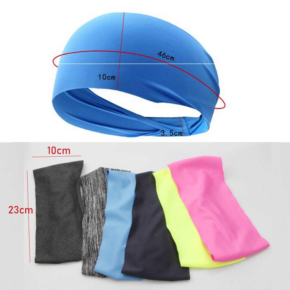 2019 Sport elastyczna opaska do jogi Sport opaska kobiety/mężczyźni sportowe do biegania opaska do włosów Turban siłownia na wolnym powietrzu opaska Fitness bandaż