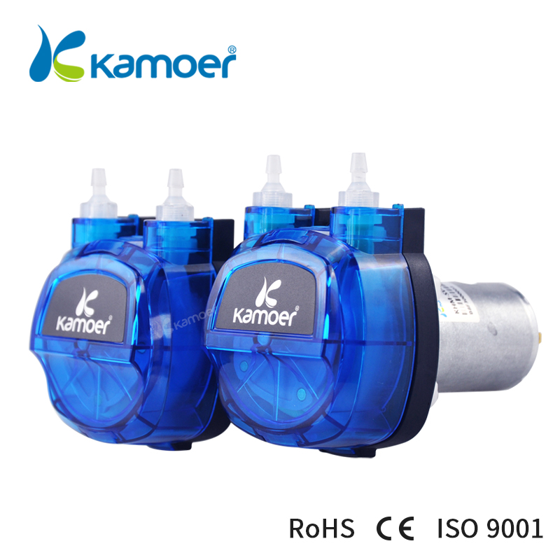 Kamoer High-precision DC motor 4 rotors KHM peristaltic pump with Plastic gear drive(Norprene tunbe or silicone tube) kamoer khs peristaltic pumpthe newest cost effective dc brush motor water pump with silicon norprene tubings