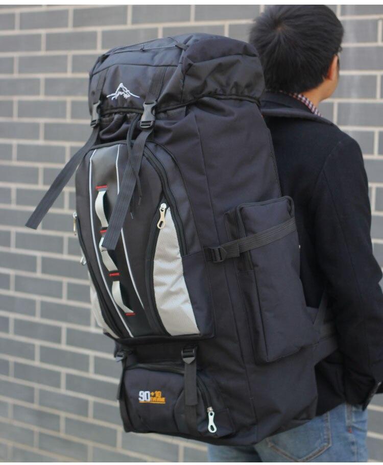 Grande mochila 100l ao ar livre sacos