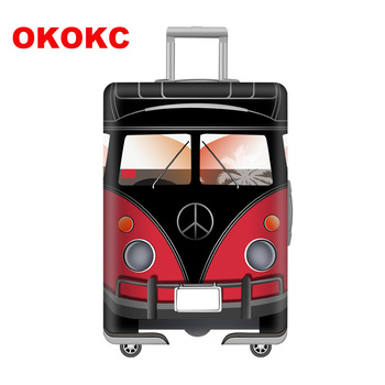 OKOKC Elastic Stamp Luggage Protective Cover for 19-32 Inch Trolley Thickest Suitcase Protect Dust Bag Case Travel Accessories