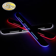 SNCN 4PCS Car LED Door Sill For Mazda CX-5 CX5 2017 2018 Ultra-thin Acrylic Flowing LED Welcome Light Scuff Plate Pedal