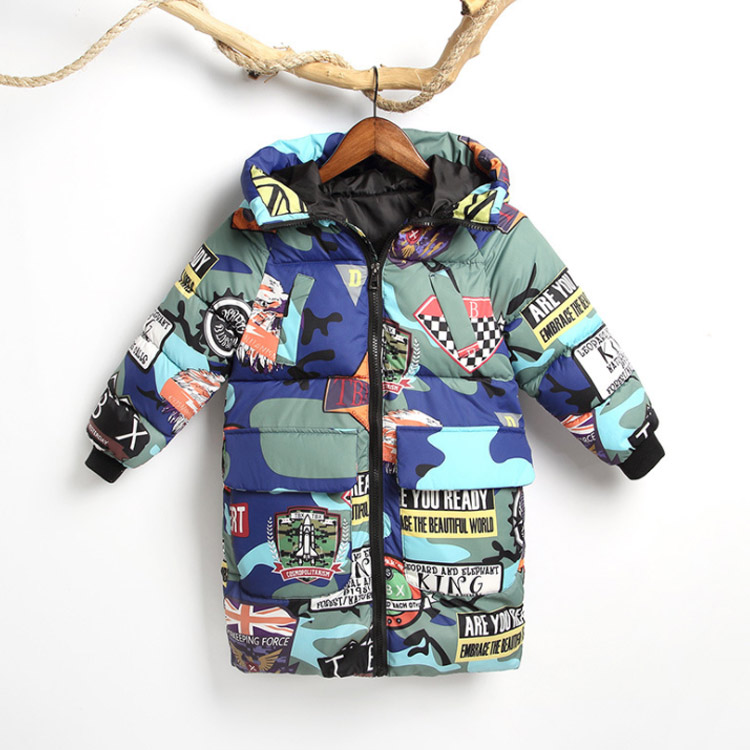 Kids Winter Thick Jacket Girls Boys Coat Warm Children's Hooded Cotton Fashion Cotton Infant Clothing Padded Jackets Kid Clothes
