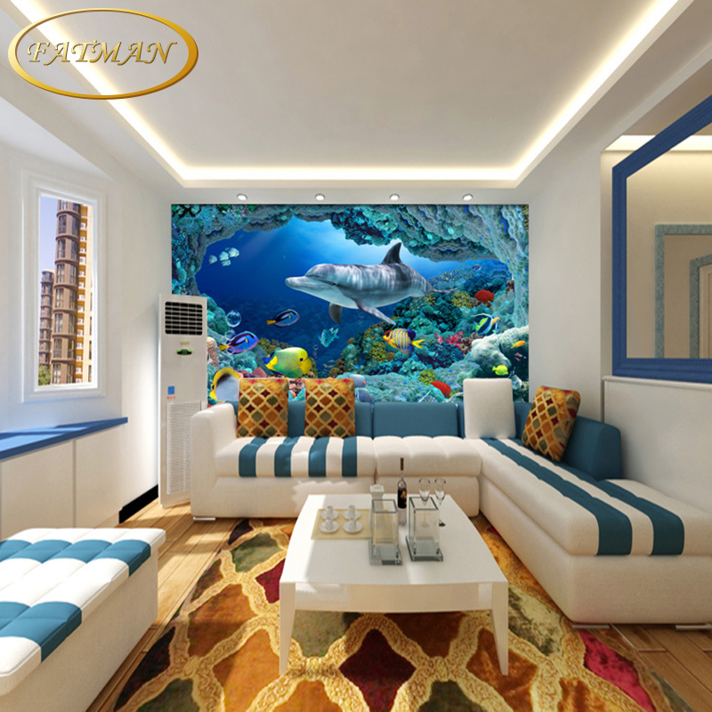 Aliexpress Buy Custom 3D Photo Wallpaper Underwater Mural Living Room TV Background Children Papel De Parede From