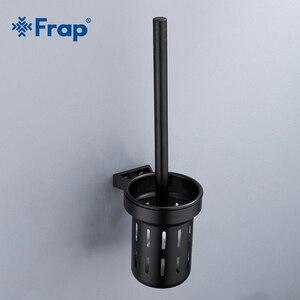 Image 1 - FRAP porte balais, accessoires de salle de bain américaine de haute qualité, espace mural en noir, porte balais, salle de bain, en aluminium, Y18053