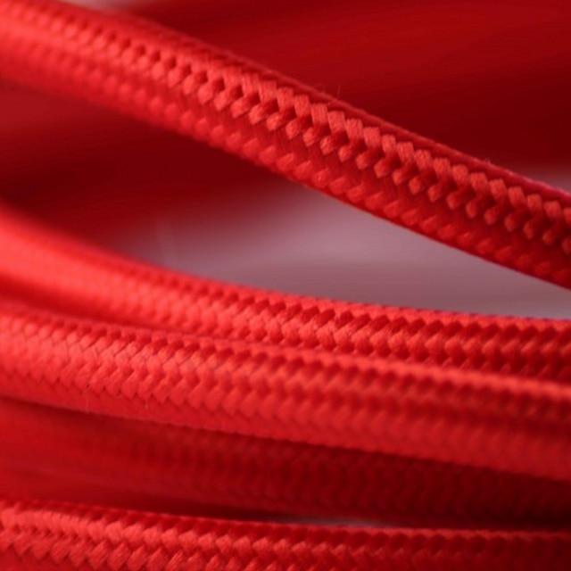 Rot Tuch Bedeckt Farbe Kabel Vintage Elektrische Draht Kabel Kabel ...