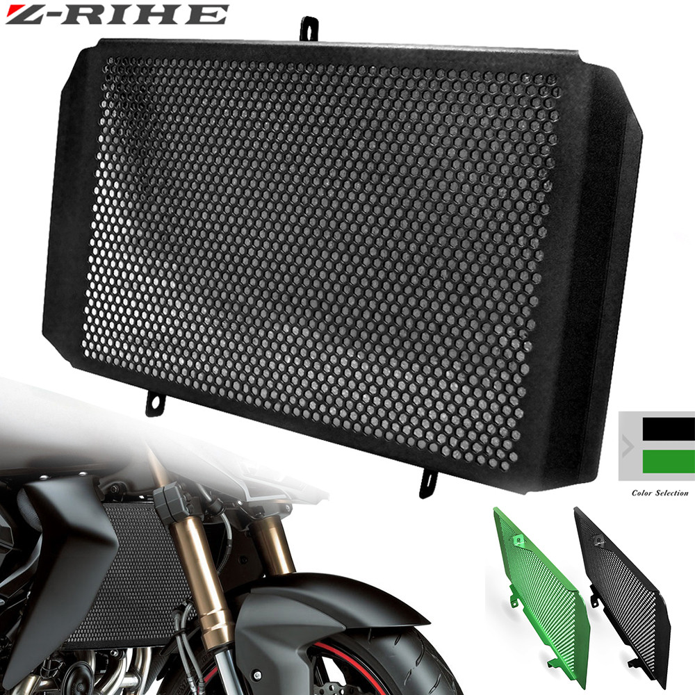 <font><b>2018</b></font> New Style Motorcycle Radiator Guard Protector Grille Grill Cover For <font><b>KAWASAKI</b></font> Z750 Z800 Z1000 <font><b>Z1000SX</b></font> NINJA 1000 versy 1000 image