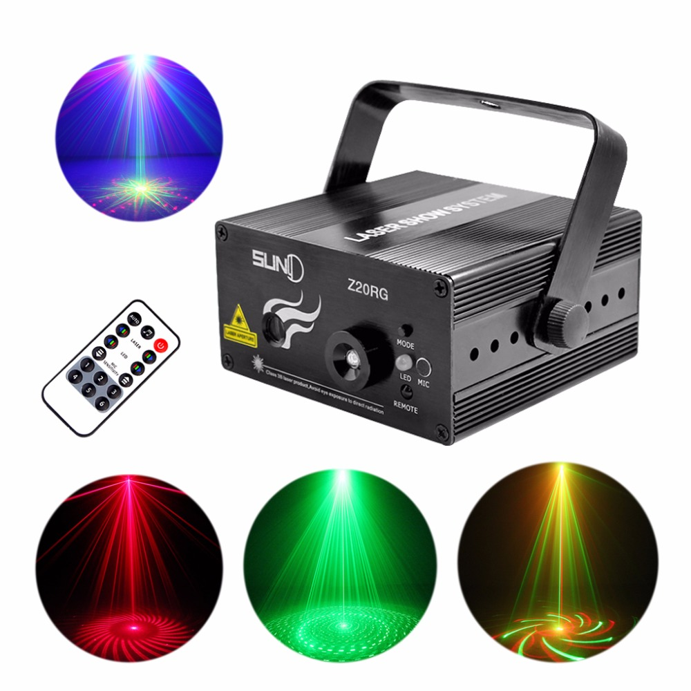 AUCD Mini 20 RG Patterns Laser Projector Equipment 3W Blue LED Mixing Light Remote Music Show DJ Home Party Stage Lighting Z20RG dhl free shipping led laser stage lighting 5 lens 80 patterns rg mini led laser projector 3w blue light effect show for dj disco
