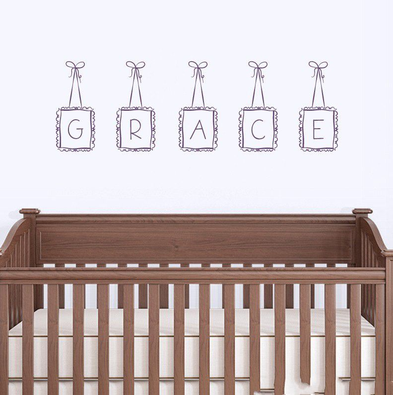 Special Hanging Frames Custom Personalized Letter Kids Name Wall Lovely Nursery Bedroom Decor Vinyl Decals Sticker In Stickers From Home