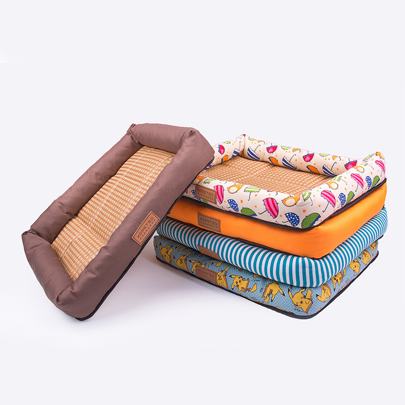 Winter Warm Pet Dog Bed Mats Cozy Soft Waterproof Pet Dog Cat House Kennel Cotton Padded Dog