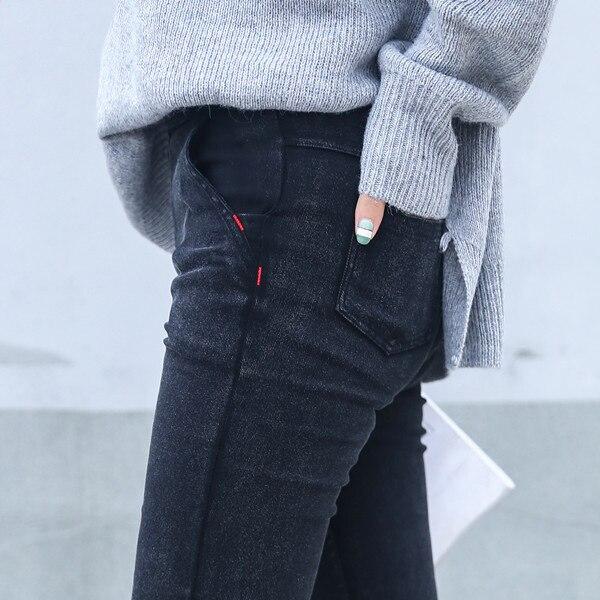 Skinny Jeans Donna 2018 New Spring Fashion Fidanzato Lavato Pantaloni In Denim Elastico Matita Pantaloni di Capris Sottili Imitazione Jean Femme
