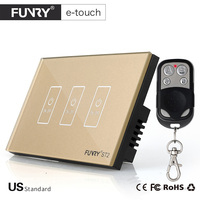 FUNRY Touch Switch 3 Gang 1 Way Smart Control On Off For Home Supplies ST2 US