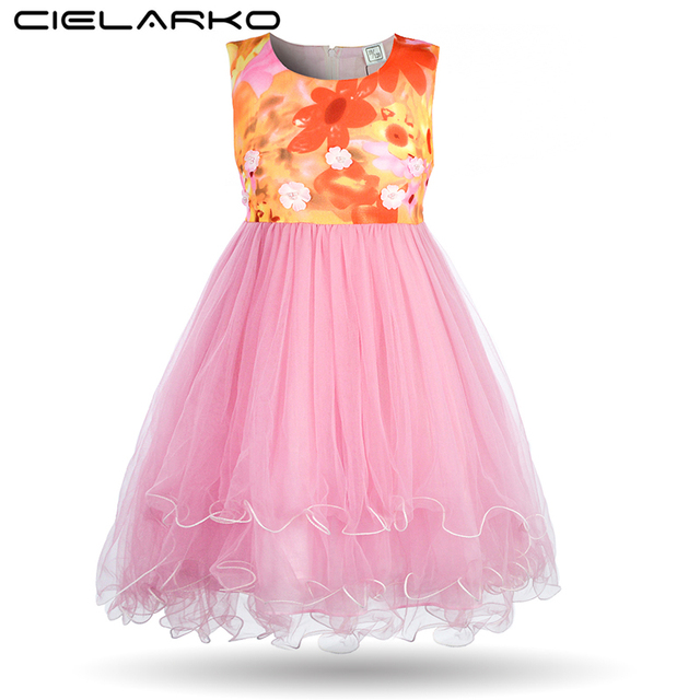 721d78d04ee9 Cielarko Kids Dress 2018 Summer Flower Girls Dresses New Design ...