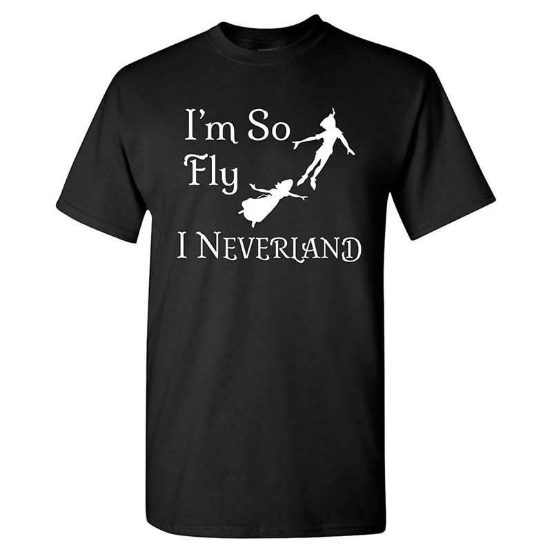 Casual Printed Tee New Style Men So Fly I Neverland O-Neck Short-Sleeve Tee Shirt