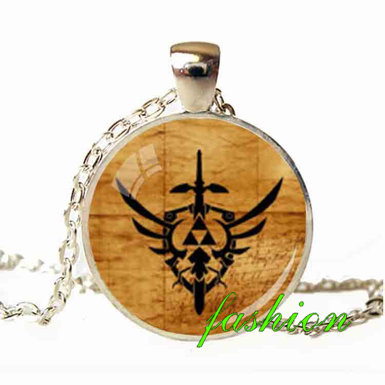 Wholesale hot handmade jewelry pendants zelda hyrule crest necklace wholesale hot handmade jewelry pendants zelda hyrule crest necklace hyrule crest pendant perfect gift necklace amulet charm in pendant necklaces from mozeypictures Image collections