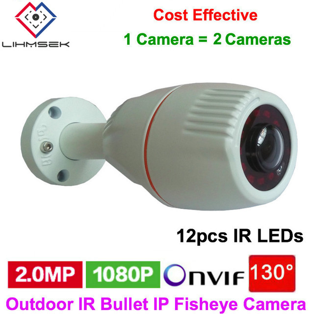 Lihmsek Esterno POE IP Fisheye Camera Outdoor IR Della Pallottola  Videocamera Onvif Di Sorveglianza Di Sicurezza