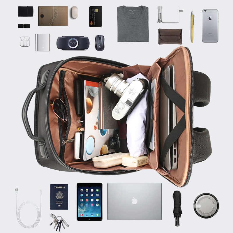 BOPAI marka erkekler Laptop sırt çantası harici USB şarj bilgisayar omuz anti-hırsızlık sırt çantası 15 inç su geçirmez dizüstü sırt çantası