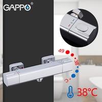 GAPPO Thermostatic Shower Faucet Bath Mixer with Waterfall Thermostatic Shower Faucet Wall Mounted Tub Faucet Tapware Griferia