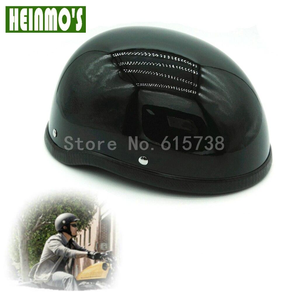 Nuovo per Harley Opaco Nero Lucido 1 Pezzo Retro In Plastica ABS Moto Helm Motocross Capacete Casco Mezzo