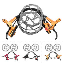 ZOOM HB-875 Mtb Bike Disc Brake 750/1350 mm Bicycle Hydraulic Brake Kit With Bicycle Rotors 160 mm Bike Brake Parts 3 Colors for shimano br m355 mtb bike hydraulic 750 1350 mm bicycle brake disc brake set bike accessory